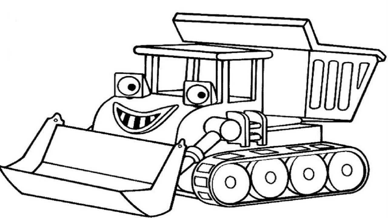 how to draw bob the builder coloring pages for kids learning