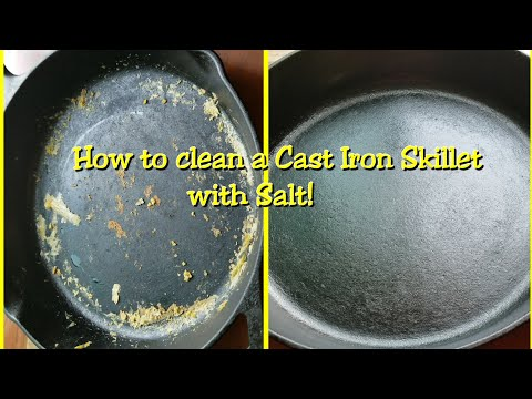OPERATION MOMMY HACK #1:    HOW TO CLEAN A CAST IRON SKILLET-