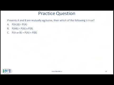 2015 CFA Level I Quant: Probability Concepts Lecture 1