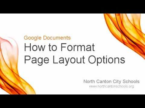 Google Documents: How to Format Page Layout Options