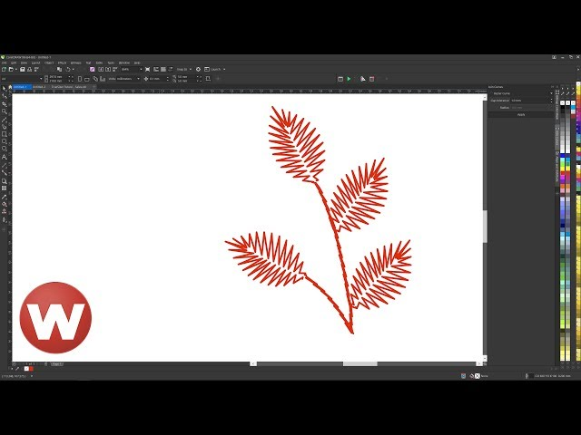 Converting an embroidery design into a stitch-like vector drawing in CorelDRAW