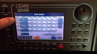 Ketron SD40 Simple Voice Edit