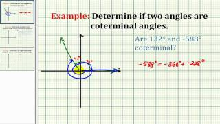 Example:  Determine if Two Angles Are Coterminal
