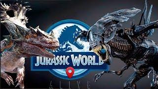 Аллосинозавр - Королева Чужих среди Динозавров Jurassic World Alive Jurassic World Alive