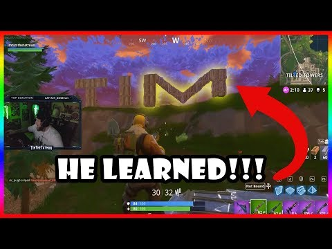 HE LEARNED HOW TO DO THE M!!!! -  Fortnite Highlights #126