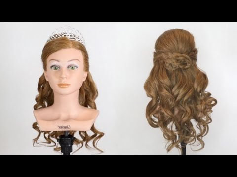 Prom Hairstyle With Tiara Youtube