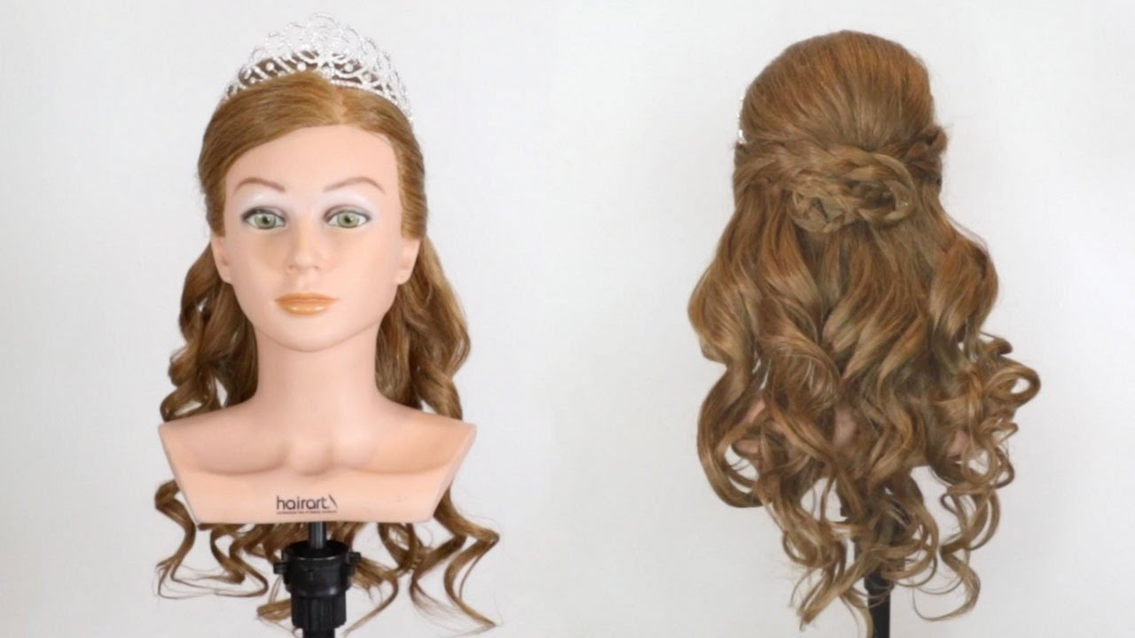 prom hairstyle with tiara