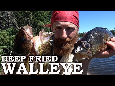 Catch and Cook JEREMY CAN'T CATCH WALLEYE! Ep3 | Deep Fried Fresh Cut Fries, Open Fire
