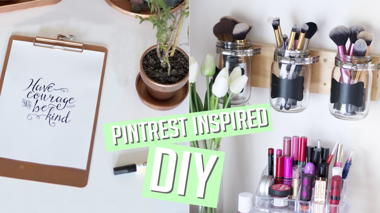 Diy room decor organisation pinterest inspired youtube for Pinterest diy decor ideas