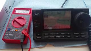 Cheap Newstyle 12V 30A Power Supply - Ham Radio Voltage Test