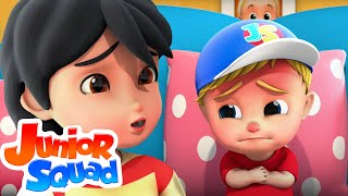Sick Song | Boo Boo Song | Wheels On The Bus | Baby Shark | Five Little Babies