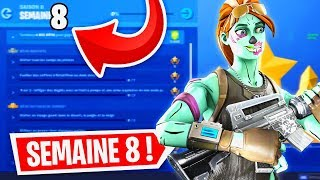 WEEK 8 GUIDE COMPLET DEFIES on FORTNITE! (SEASON 8 SKIN RUIN)