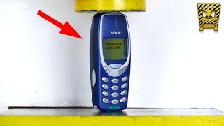 Mira Lo Que Pasa Cuando Aplastas Nokia 3310 con una Prensa de 100 Toneladas