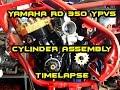 YAMAHA RD 350 || Cylinder assembly TimeLapse