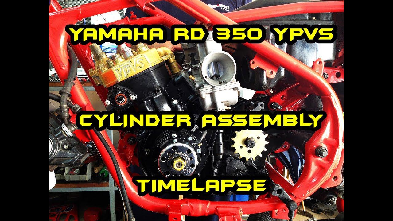 YAMAHA RD 350    Cylinder assembly TimeLapse