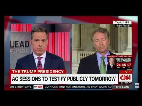 Rand Paul: Democrat Committing 'Political Theater' Going After 'Russia Hardliner' Jeff Sessions