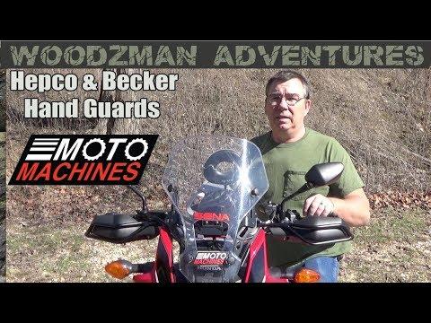 Africa Twin Hepco & Becker Hand Guards Install Honda CRF1000L Moto Machines