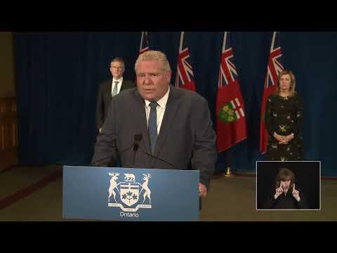 Le premier ministre Ford offre une mise à jour sur la COVID-19 | Le 13 avril 2020