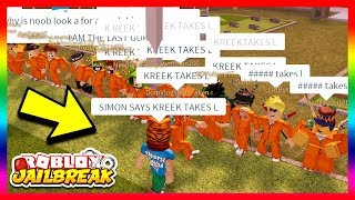 Roblox Jailbreak CRAZIEST SIMON SAYS HIDE AND SEEK (fr) GAGNANT OBTIENT LE PRIX SECRET (FR) Jailbreak nouvelle mise à jour