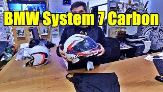 Шлем BMW System 7 Carbon Снимаем лицевую часть