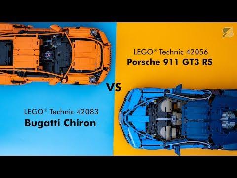 LEGO Technic ultimate supercar battle – 42083 Bugatti Chiron vs 42056 Porsche 911 GT3 RS