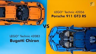 LEGO Technic ultimate supercar battle - 42083 Bugatti Chiron vs 42056 Porsche 911 GT3 RS