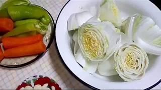 Отличная   закуска! Пекинская капуста по корейски. Great snack! Peking cabbage in Korean.