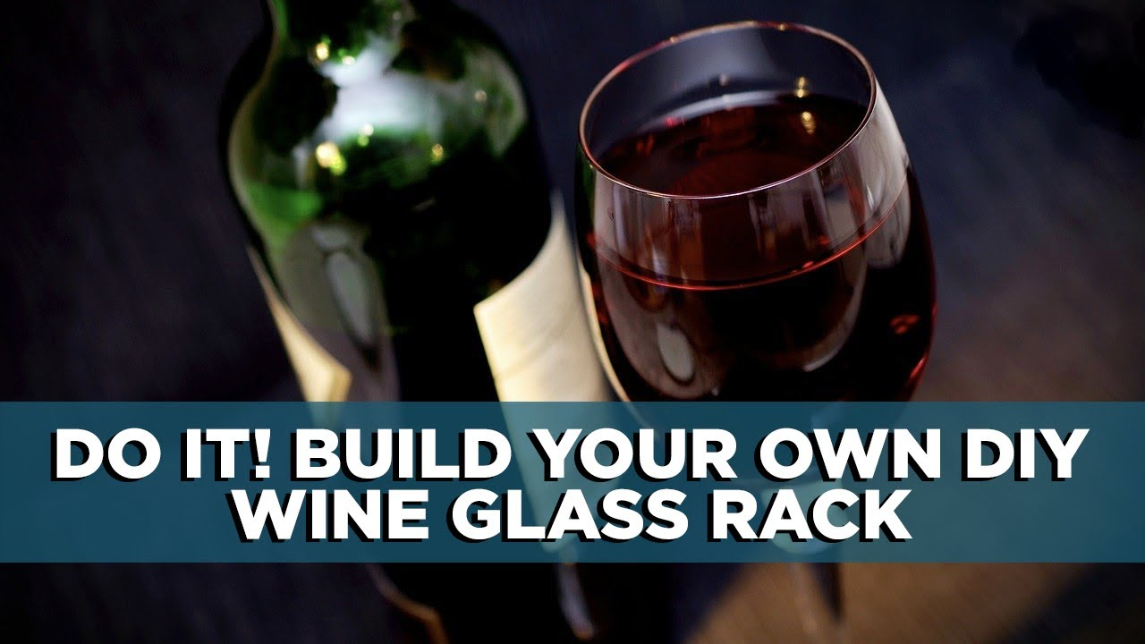 Build Your Own DIY Wine Glass Rack for Kitchen Cabinets ...
