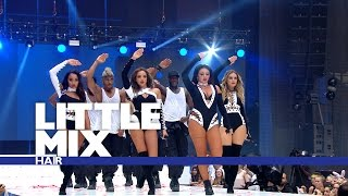 Little Mix 'Hair' - (Live At The Summertime Ball 2016)(Subscribe: http://bit.ly/SubscribeToCapitalFM Get involved with the UK's No. 1 Hit Music Station! Website: http://www.capitalfm.com/ Facebook: ..., 2016-06-11T22:46:04.000Z)