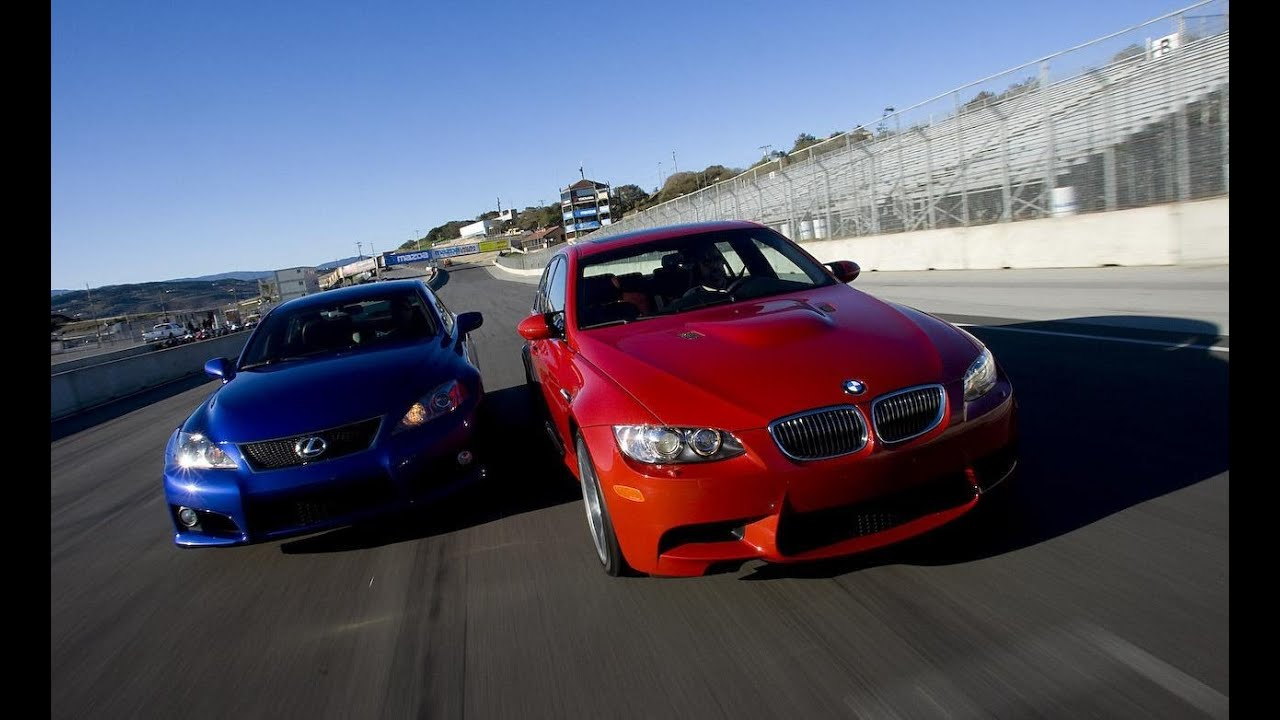 2008 Bmw M3 V Lexus Is F Car And Driver