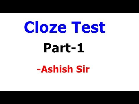 How to solve Cloze Test ? Part-1 | English Grammar | SSC | PO | ALL COMPETITIVE EXAMS | HD