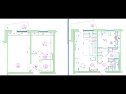 Перепланировка однокомнатной квартиры в доме серии 121-014