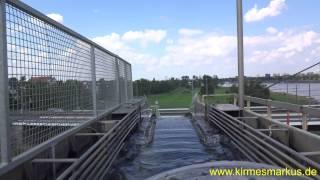 Wildwasser 3 Löwenthal (Log flume Ride) Onride Rheinkirmes Düsseldorf 2014 by kirmesmarkus