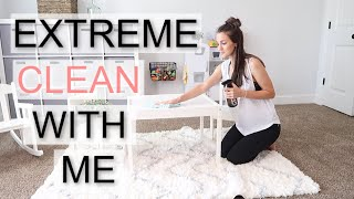 ULTIMATE CLEAN WITH ME 2019 | HUGE MESS CLEAN WITH ME | KITCHEN, PLAYROOM, DOWN STAIRS