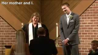 father gives away his daughter at her wedding but first