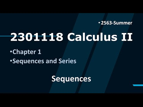 Download 2301118 Calculus II Chapter 1 Sequences