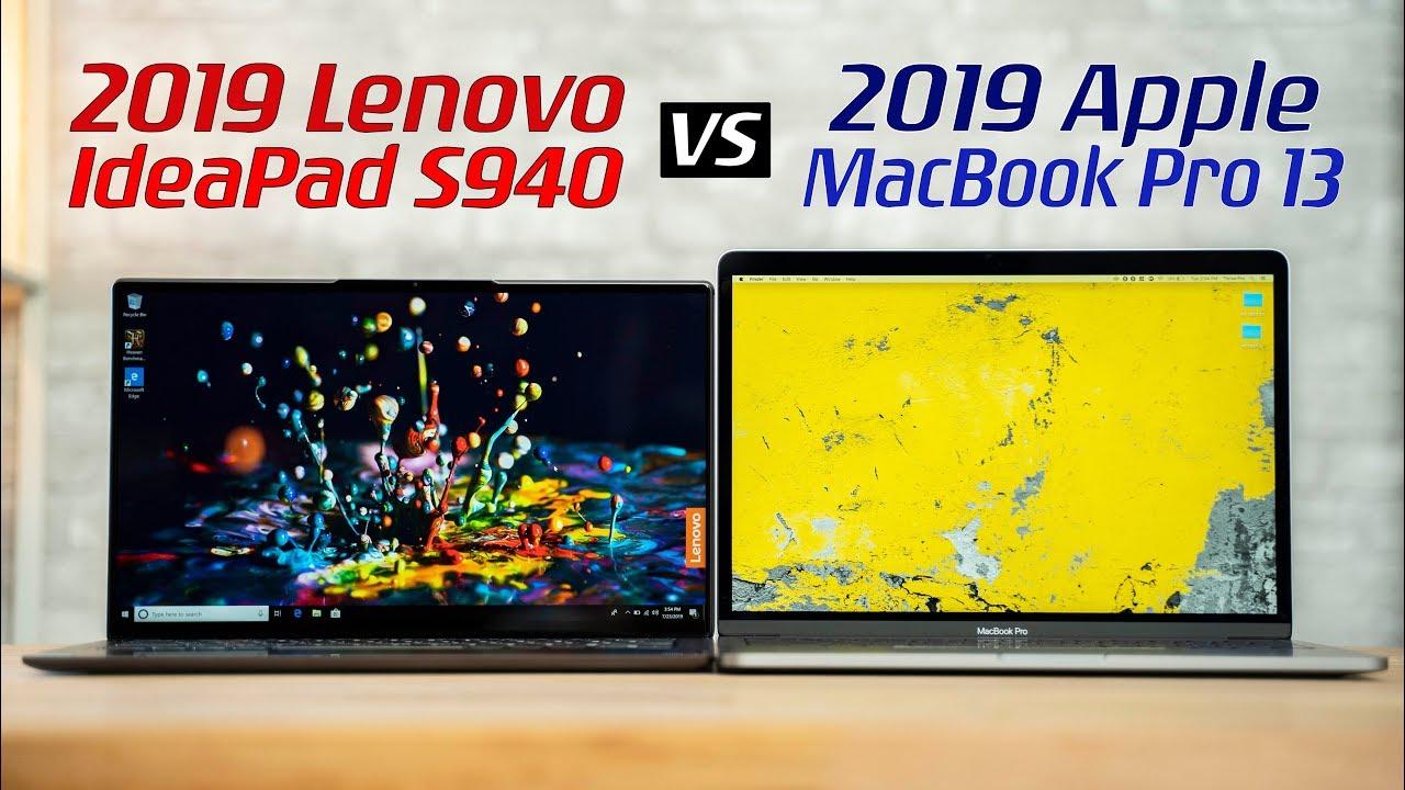Lenovo Ideapad S940 Vs 13 Macbook Pro Full Comparison Youtube