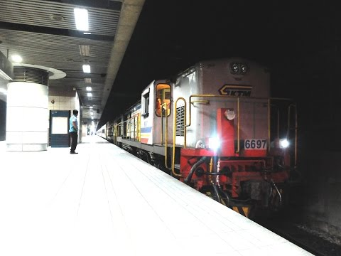 Train travel from Kuala Lumpur to Singapore with KTM Intercity Ekspres Sinaran Selatan 13dn