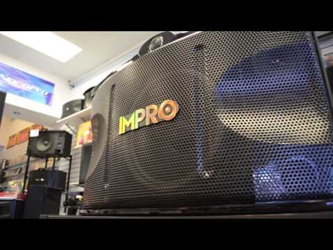 Impro VS-1400 Pair of Speakers 1400W Vocal Karaoke Glossy Wood Finish
