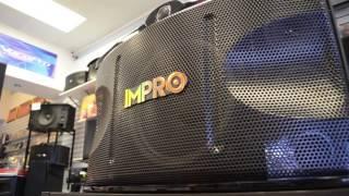 Impro VS-1400 Pair of Speakers 1400W Vocal Karaoke Glossy Wood Finish