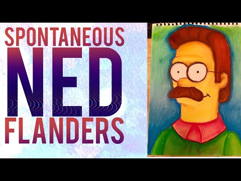 Drawing Ned Flanders