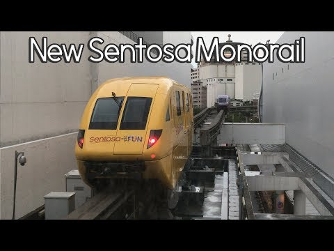 New Yellow Singapore Sentosa Monorail