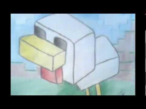 Dibujando PolloMinecraft Speed x8  YouTube
