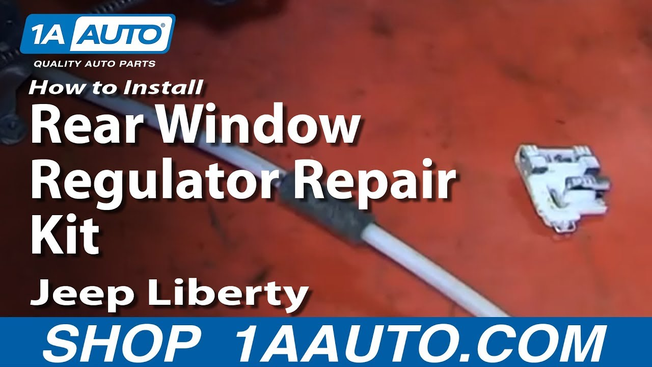 hight resolution of how to install rear window regulator repair kit 2002 06 jeep liberty