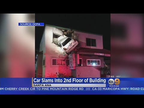 Car Goes Airborne, Lands In 2nd Floor Of California Building