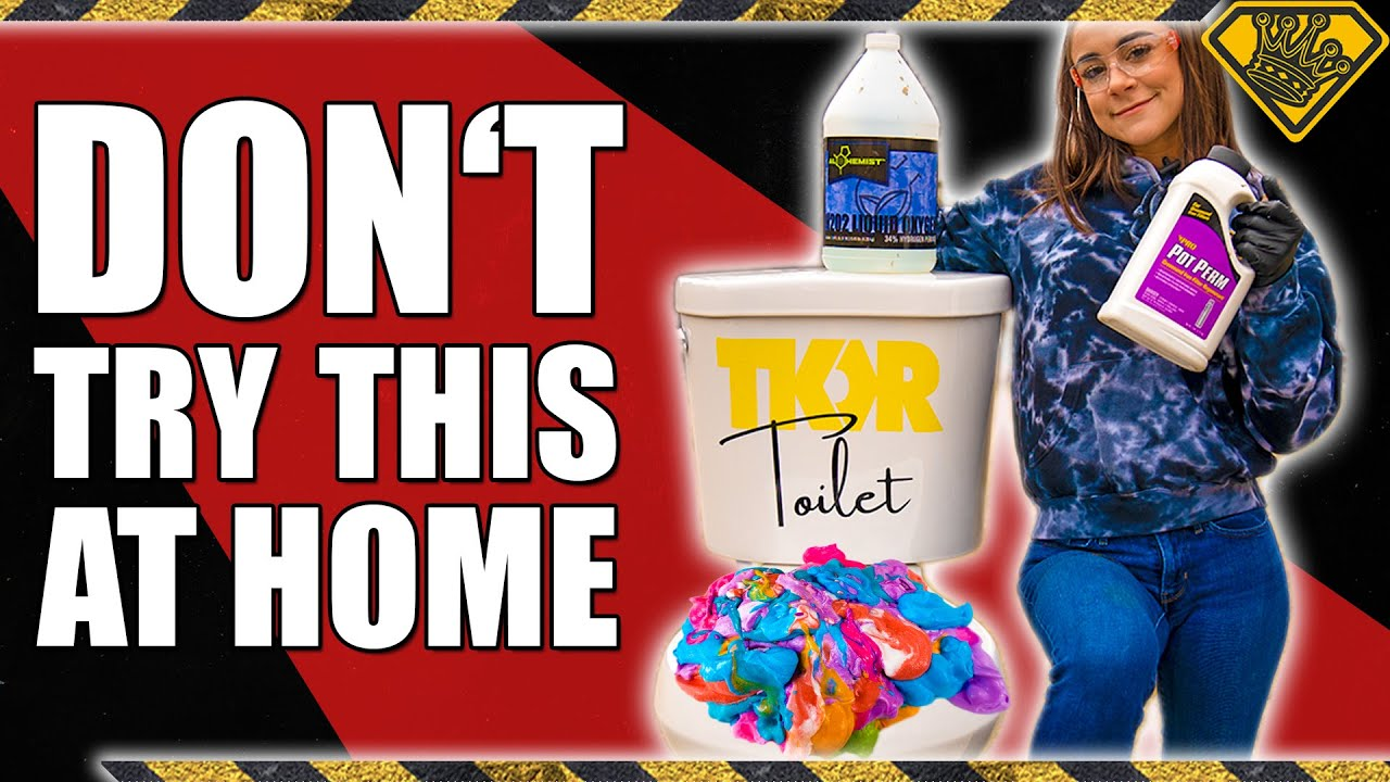 Can Elephant Toothpaste Blow Up a Toilet?!