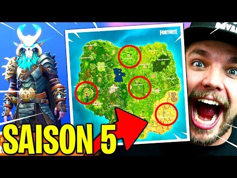 SAISON 5: PASS DE COMBAT, NOUVELLE MAP... sur FORTNITE: Battle Royale !!