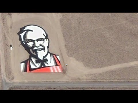 How To Find KFC Logo On Google Earth - Colonel Sanders - Kentucky Fried Chicken