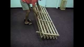 Wine Rack Assembly Video For Short Depth Individual Bottle Wine Racks
