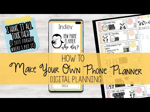 How To Make Your Own Phone Planner   Xodo Digital Planning